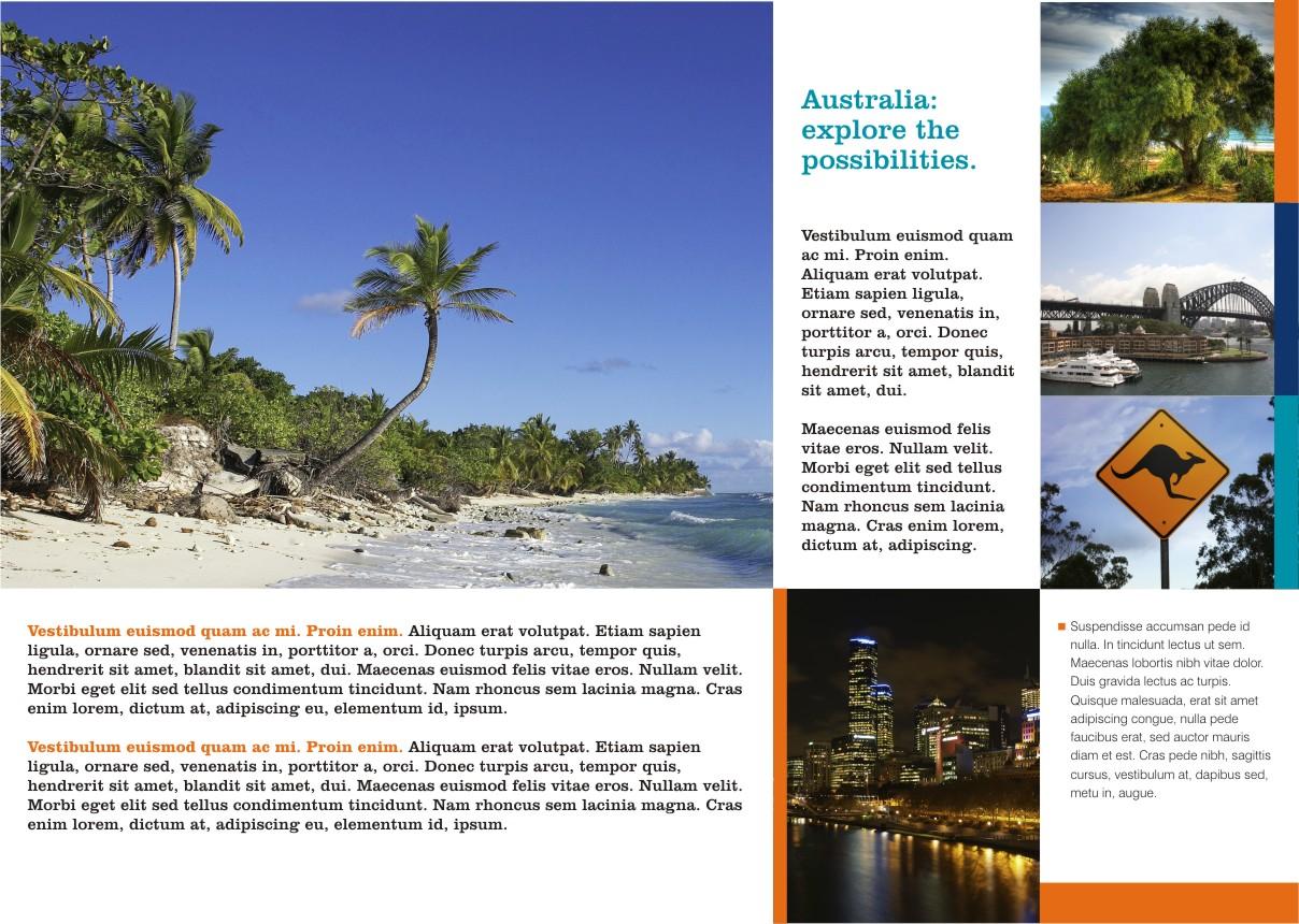 Tourism Australia Brochure Page 2 Coreldraw Graphics