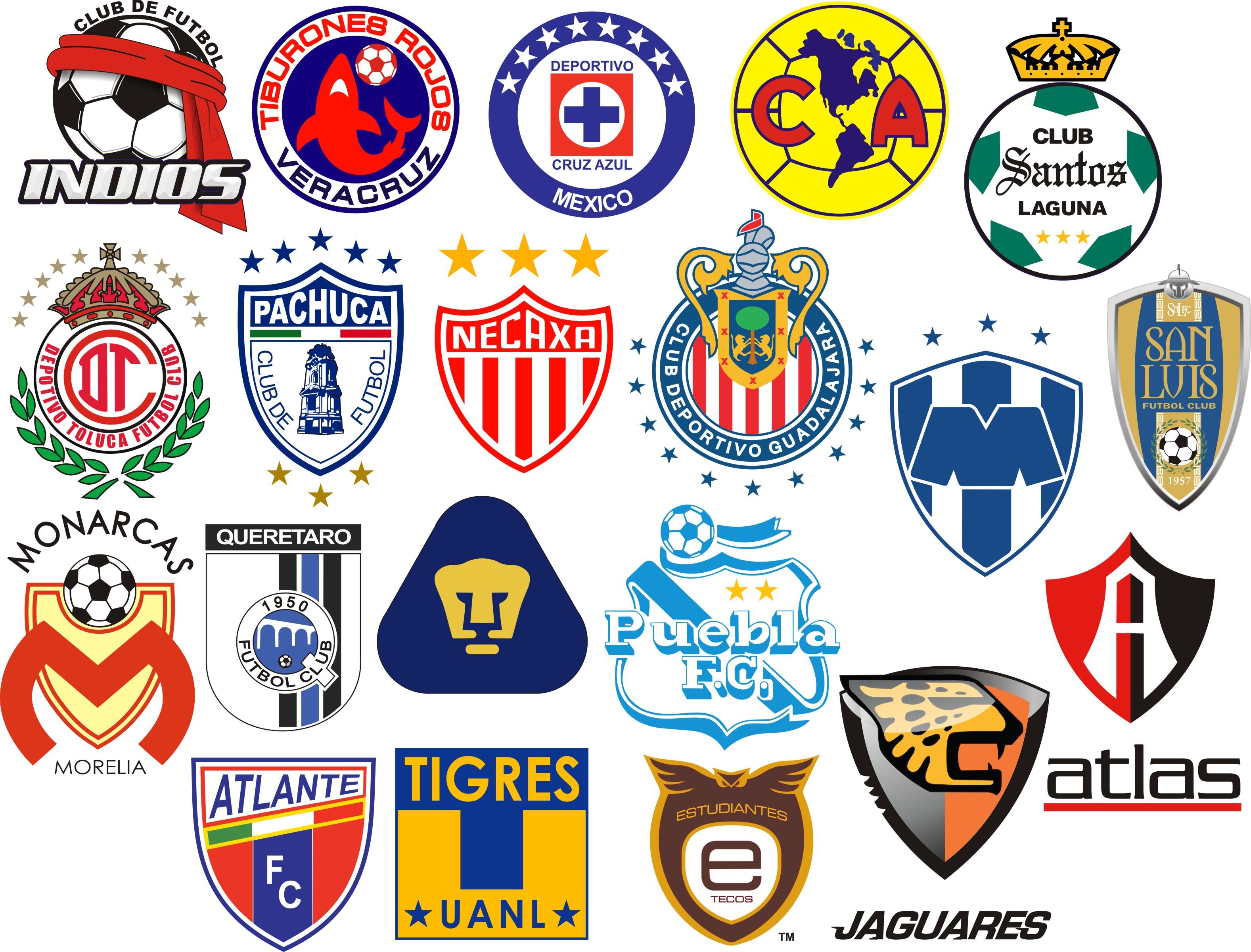 logotipos de los equipos de futbol mexicanos iron giant