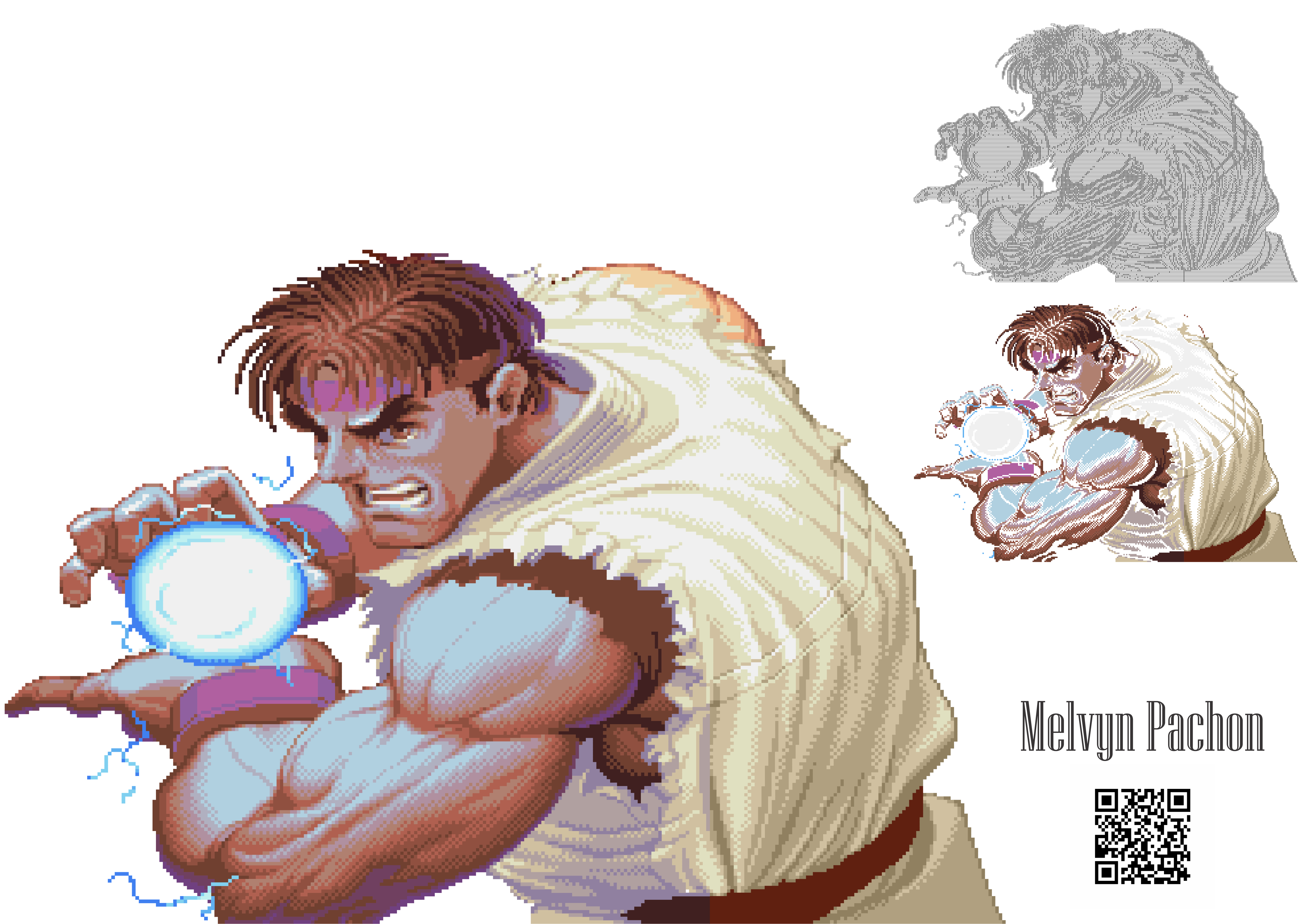 Cdrx 8 Pixel Art In Vector Super Street Fighter Ii The New Challengers Ryu Melvyn Pachon S Gallery Community Galleries Mno Coreldraw Community