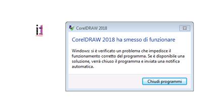 CorelDRAW 2018 always crashes when adding text: workarounds