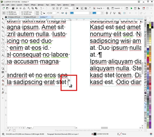 Text Editor Issue - CorelDRAW Graphics Suite 2019 for