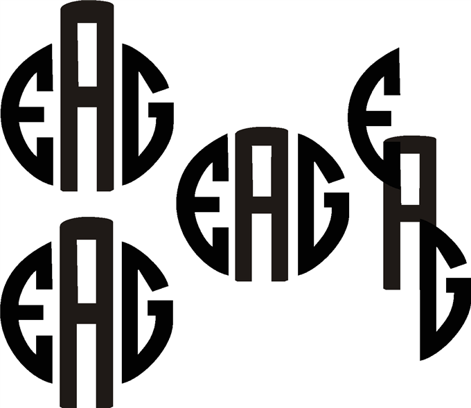 monograms - coreldraw x3 - coreldraw x3 and older