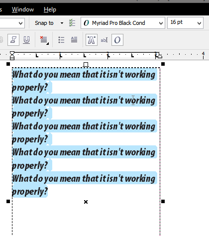 Some fonts not working - CorelDRAW Graphics Suite 12