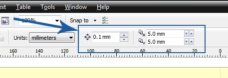 What Is Nudge Offset And Duplicate Distance Coreldraw X4