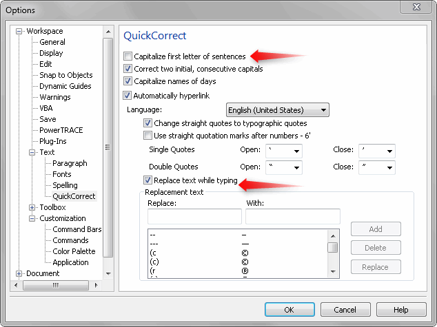 Font/Text Auto format function - CorelDRAW X4 - CorelDRAW