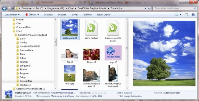 Preview pane and thumbnails don't work under Windows 7 - CorelDRAW