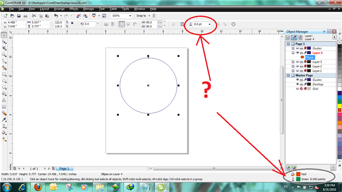 Cannot fill or set outline for object ? - CorelDRAW X4 ...