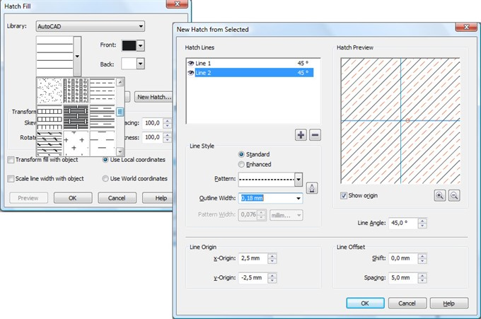 Creating Hatch Patterns - CorelDRAW X4 - CorelDRAW Graphics Suite X4