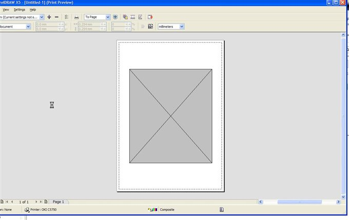 Print preview is greyed out - CorelDRAW X5 - CorelDRAW