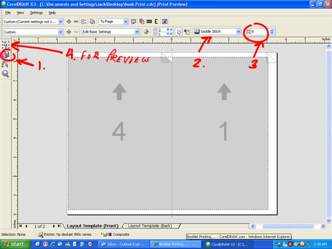 Booklet Printing CorelDRAW Graphics Suite X CorelDRAW - 8 page booklet template