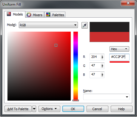 Create Hexadecimal colors? - CorelDRAW Graphics Suite X5