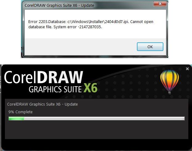 corel x7 error 38