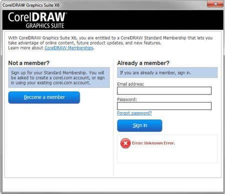 Expired Validation And Membership Login Coreldraw Graphics Suite