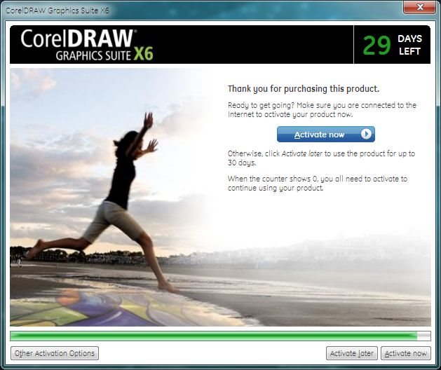 Product Activation ??? - CorelDRAW Graphics Suite X6
