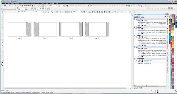 Staggered Fold Booklet - CorelDRAW X6 - CorelDRAW Graphics Suite X6 ...