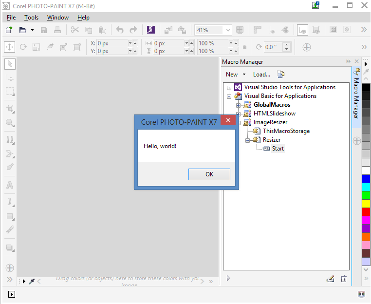 Creating VBA Macros with User Interface in CorelDRAW and