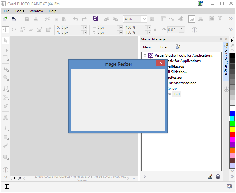 Creating VBA Macros with User Interface in CorelDRAW and Corel